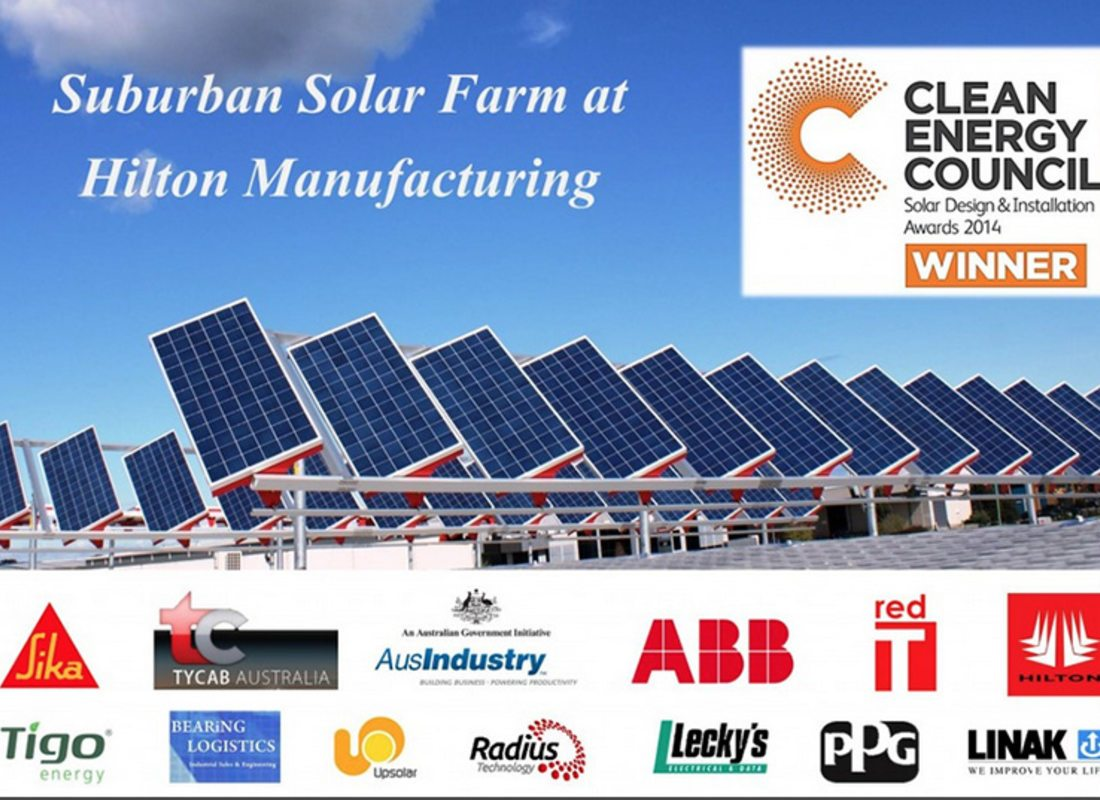 CEC Solar Design & Installation Awards 2014 – Winner